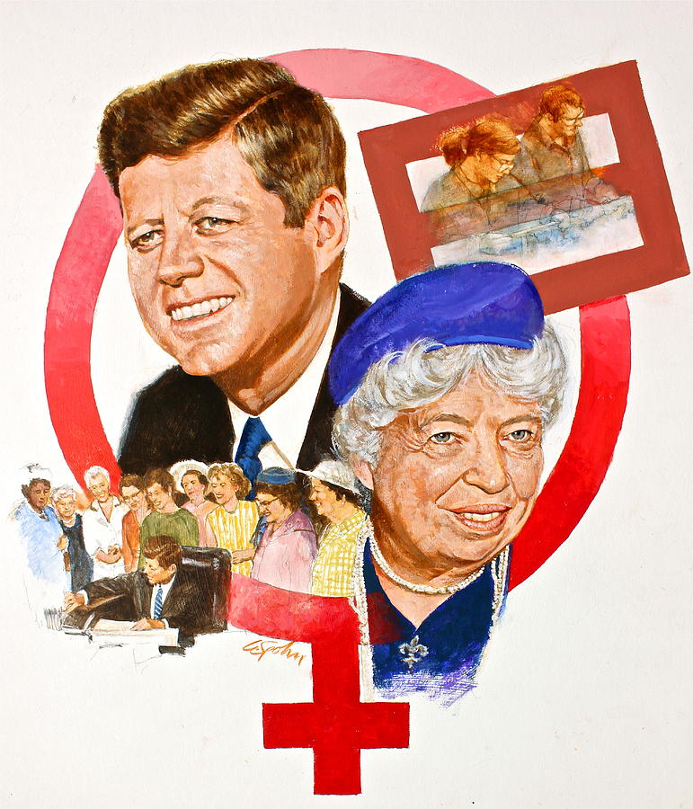 JFK And Elenore Roosevelt  by Cliff Spohn