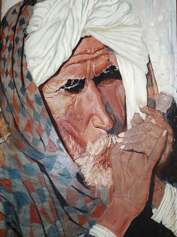 Chillum Painting - Jhagru Rams Chillum by Narayan Iyer