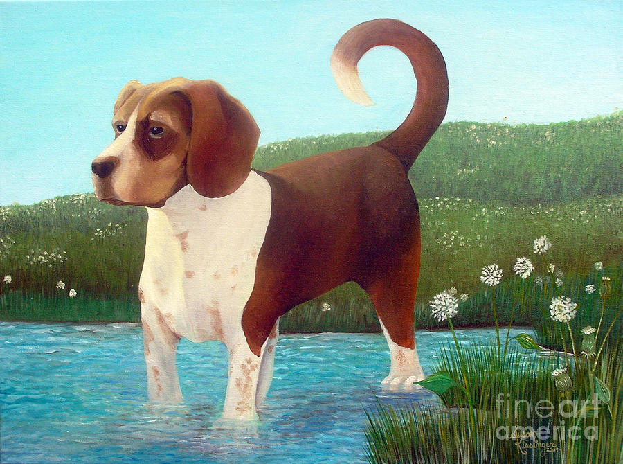 Dog Painting - Jibbs by Susan Clausen
