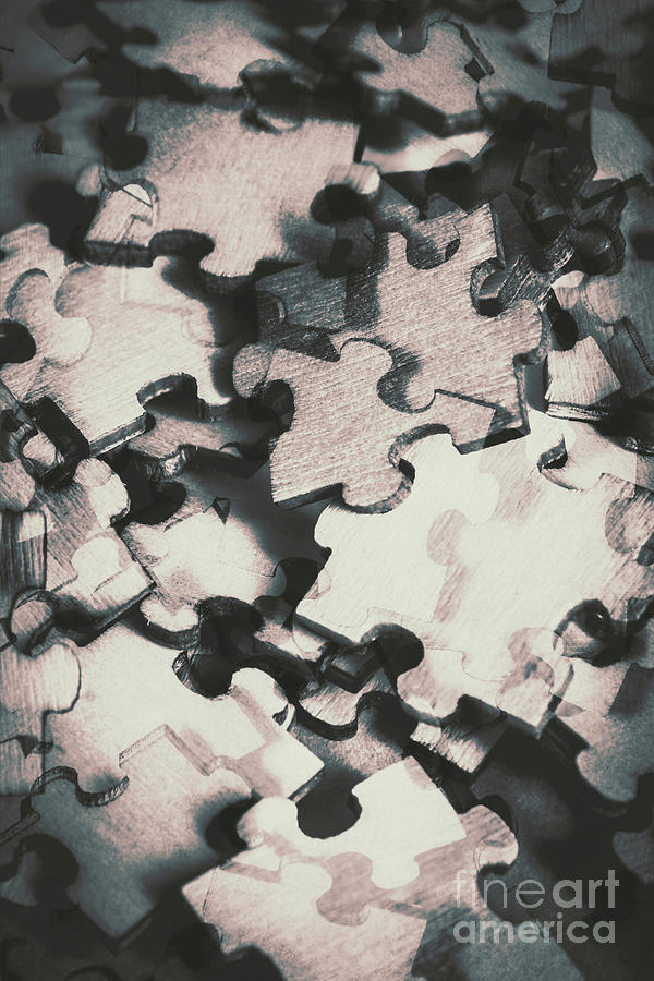 Abstract Photograph - Jigsaws Of Double Exposure by Jorgo Photography - Wall Art Gallery