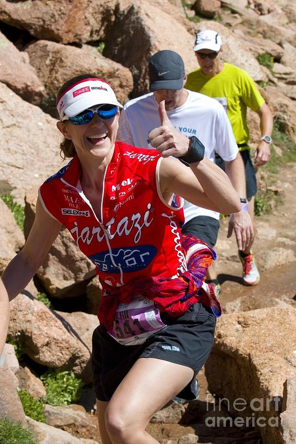 Jill Howard At The Pikes Peak Marathon And Ascent Photograph