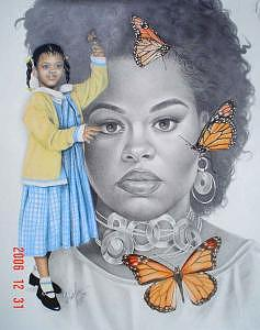 Jill Scott Drawing - Jill Scott by Charlene Cooper
