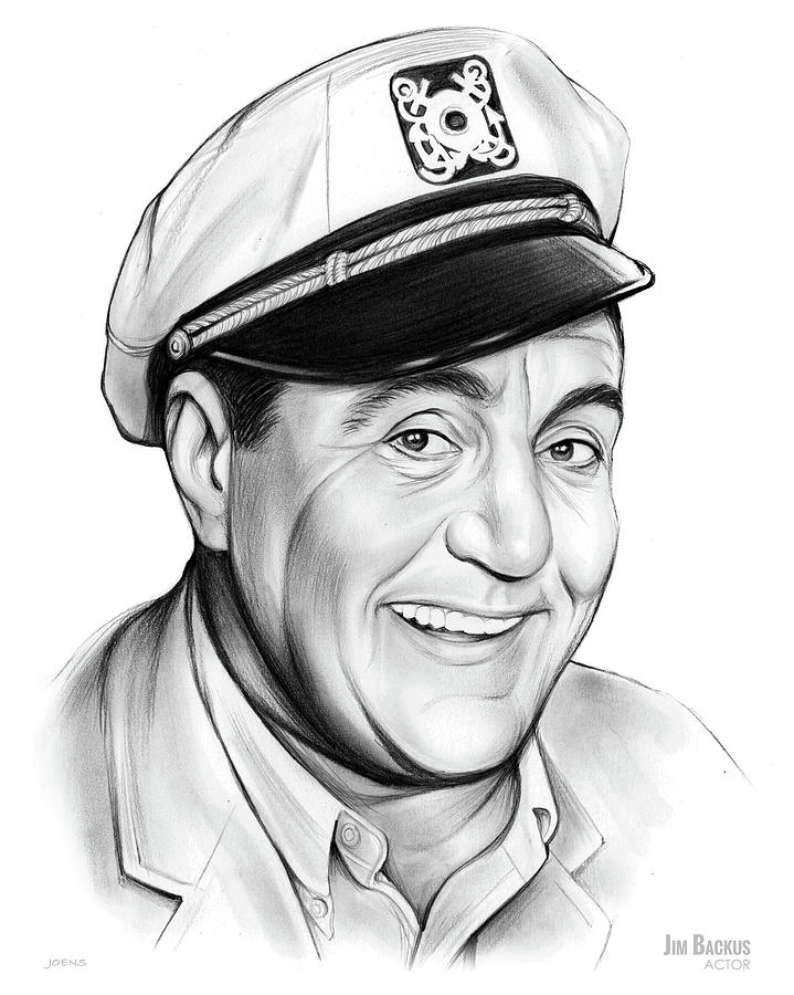 Jim Backus Drawing