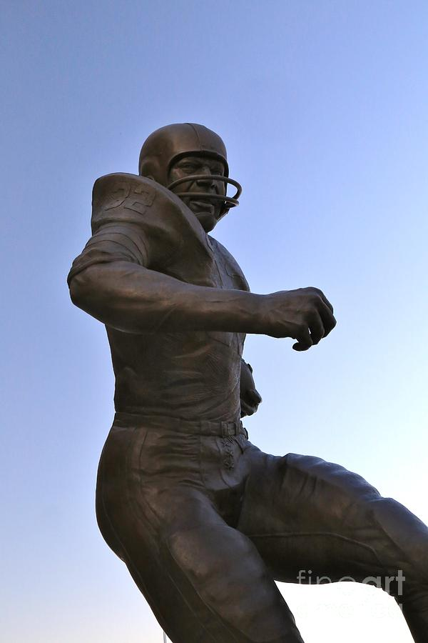 Actor Photograph - The Jim Brown Statue, Cleveland Browns Nfl Football Club, Cleveland, Ohio, Usa by Douglas Sacha