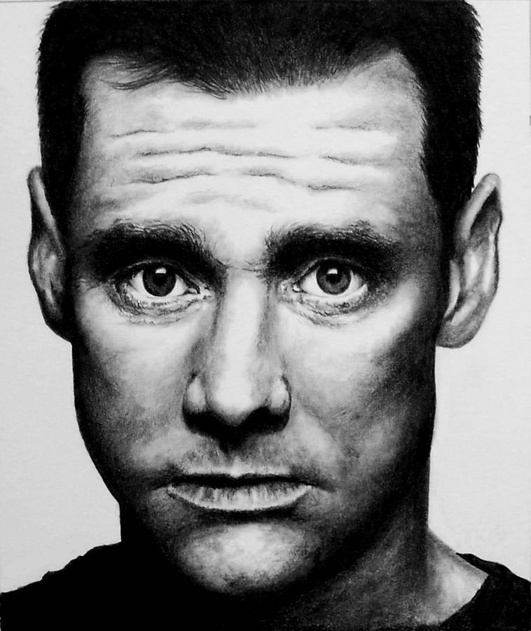 Jim Carrey Drawing - Jim Carrey by Rick Fortson