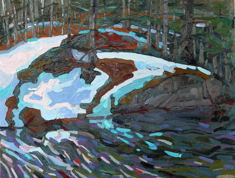 Jim Painting - Jim Day Thaw by Phil Chadwick