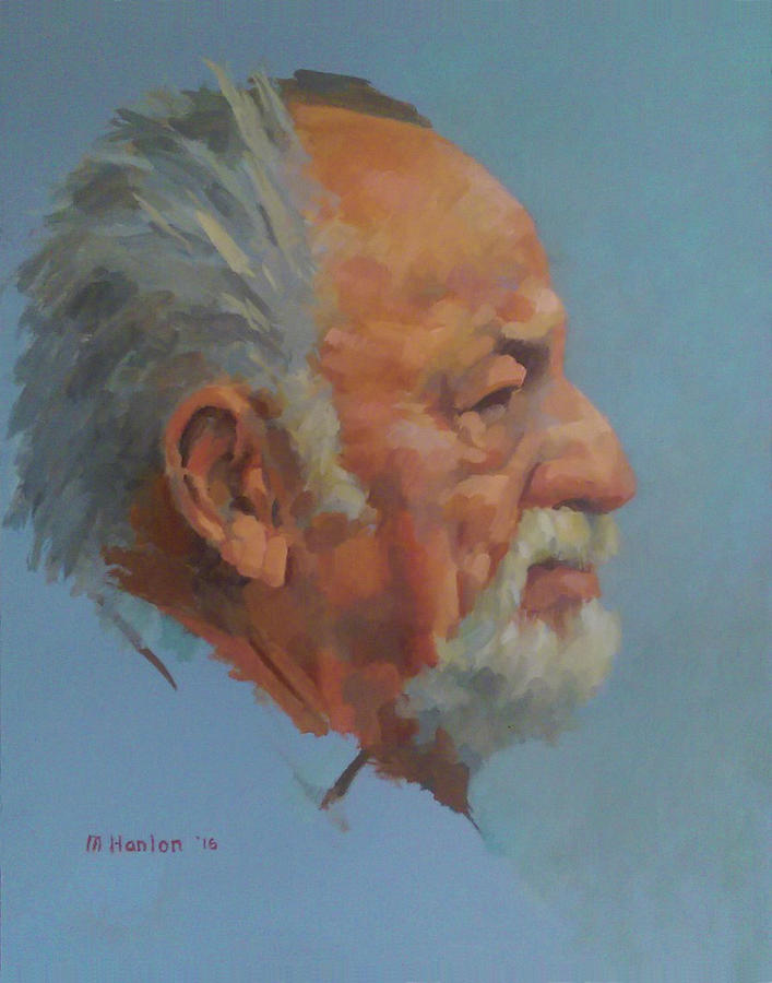Jim Harrison Painting by Mike Hanlon