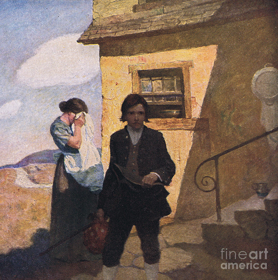 Jim Hawkins Leaves Home Painting By Newell Convers Wyeth