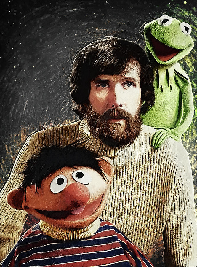 Jim Henson Digital Art - Jim Henson Together With Ernie And Kermit The Frog by Zapista Zapista