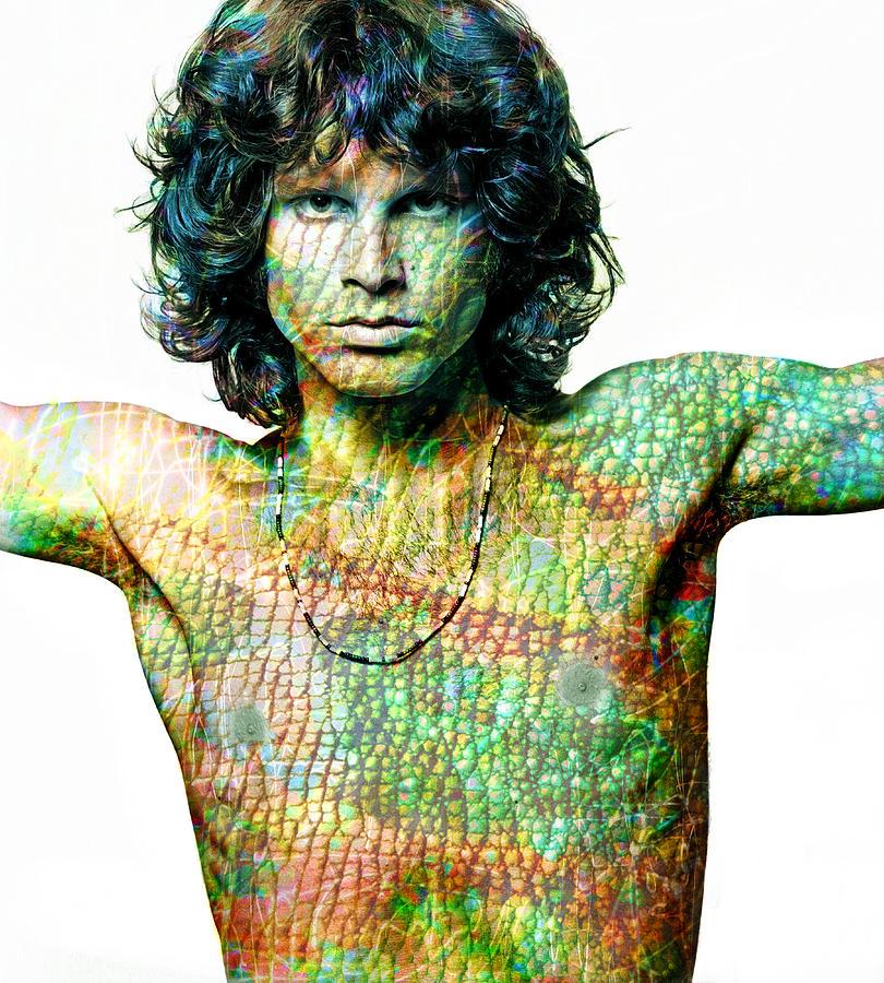 Jim Morrison Digital Art - Jim by Mal Bray