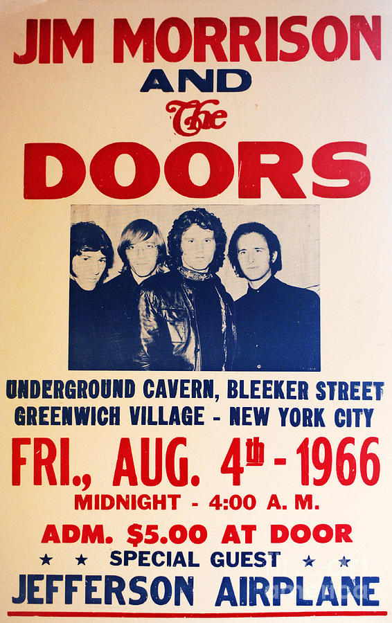 Jim Morrison And The Doors Poster Collection 3 Photograph