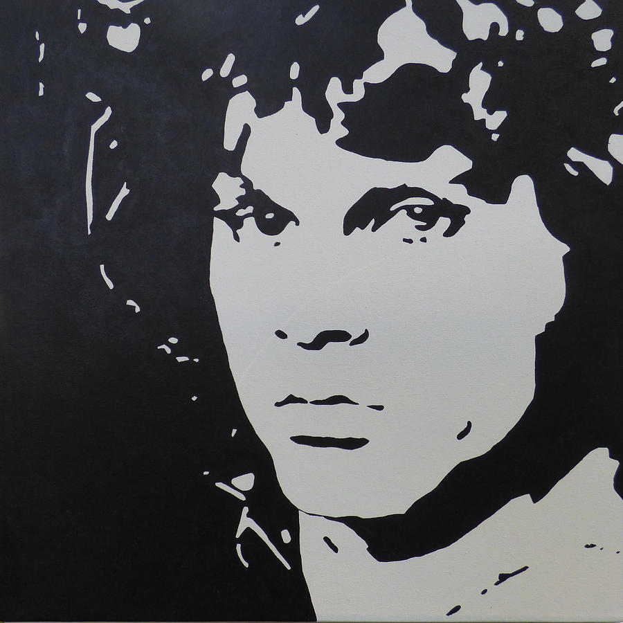 jim morrison black and white pop art painting by nick randolph