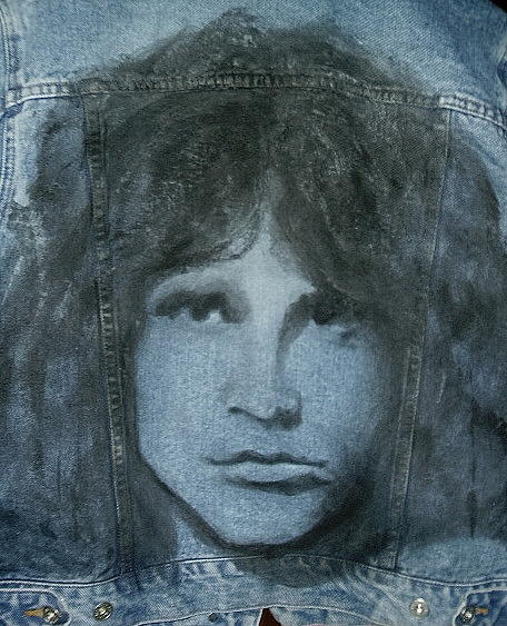Jim Morrison Jacket Tapestry - Textile by Janet Gioffre Harrington