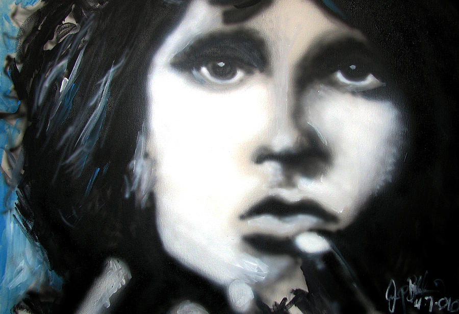 The Doors Painting - Jim Morrison Ravens Claws   by Jon Baldwin  Art