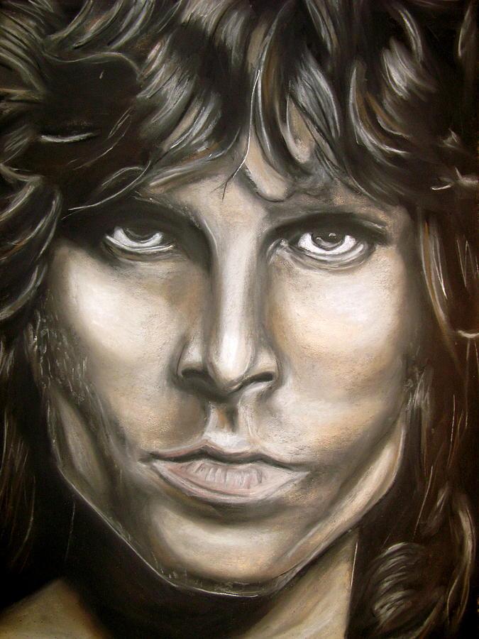 Jim Drawing - Jim Morrison by Zach Zwagil