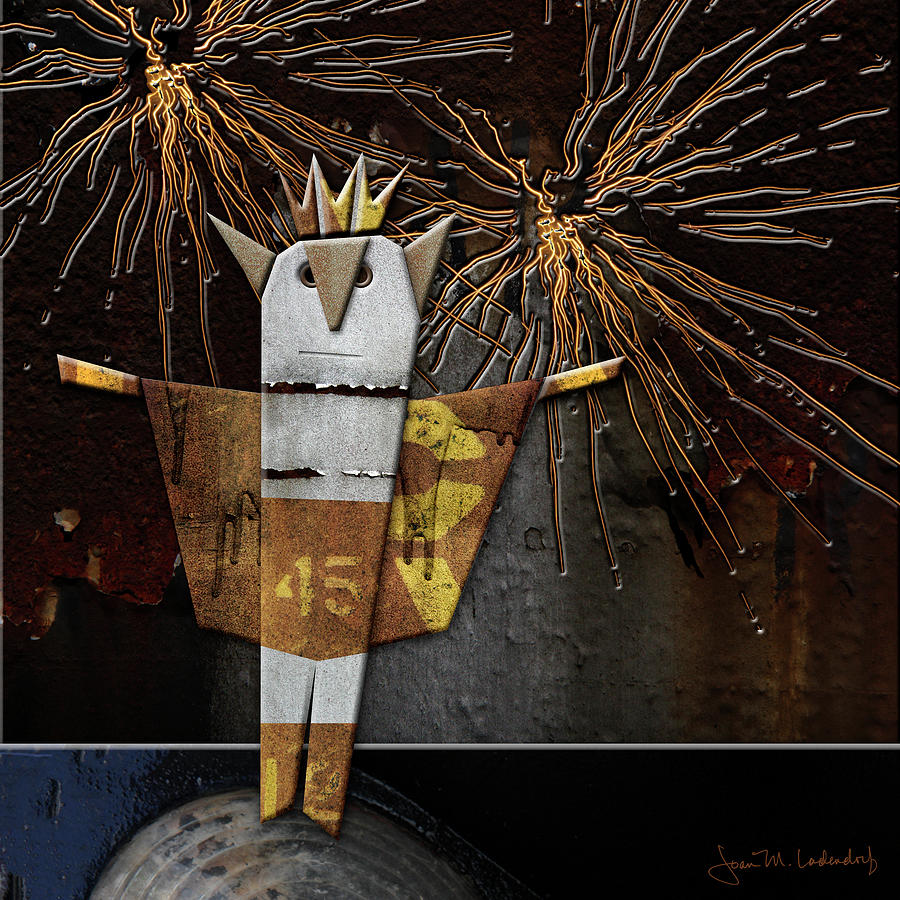 Fireworks Photograph - Jim The God Of July by Joan Ladendorf