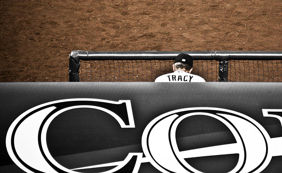 Americana Photograph - Jim Tracy Rockies Manager by Marilyn Hunt