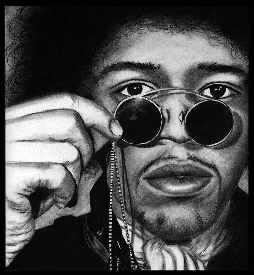 Jimi Hendrix Drawing - Jimi by Alycia Ryan