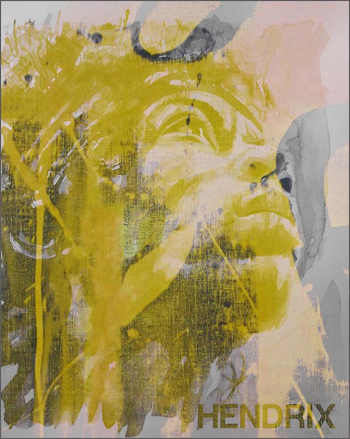 Jimi Hendrix Mixed Media - Jimi Hendrix Art  by Paul Lovering
