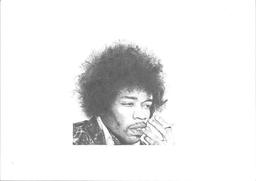 Jimi Hendrix Drawing - Jimi Hendrix by Dan Lamperd