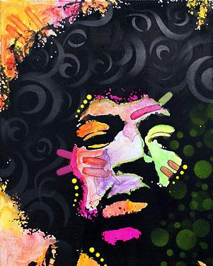 Painting jimi Hendrix pop Art Portrait Rock Music Graffiti dean Russo dean Russo Art Painting - Jimi Hendrix by Dean Russo