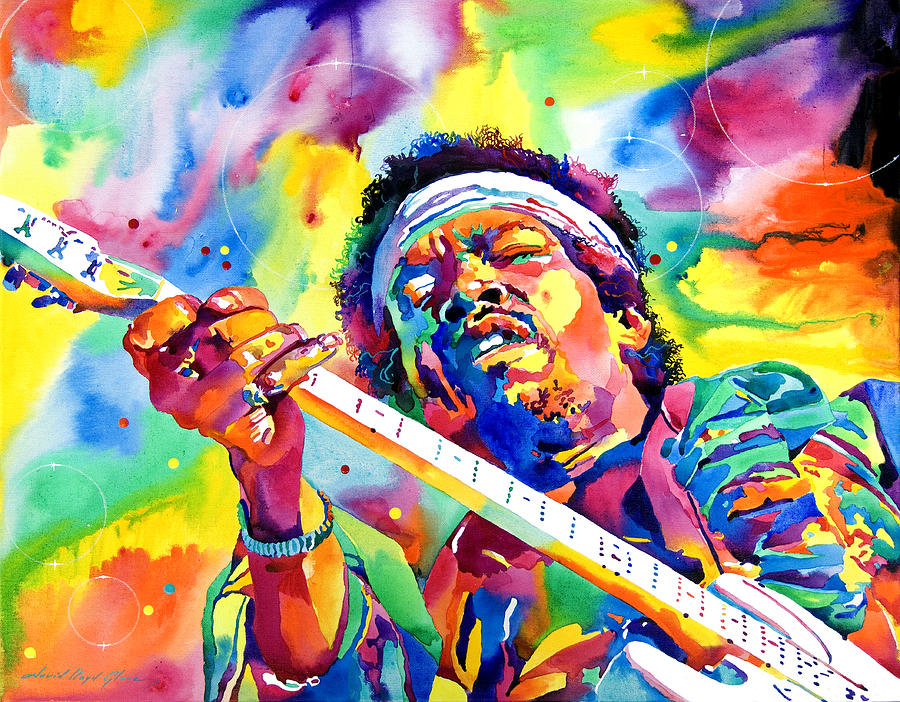 Jimi Hendrix Painting - Jimi Hendrix Electric by David Lloyd Glover