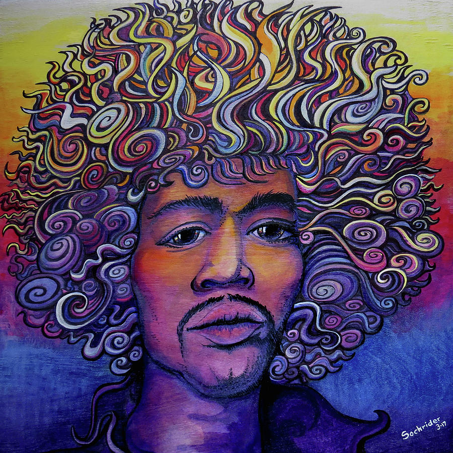 Jimi Painting - Jimi Hendrix Groove by David Sockrider