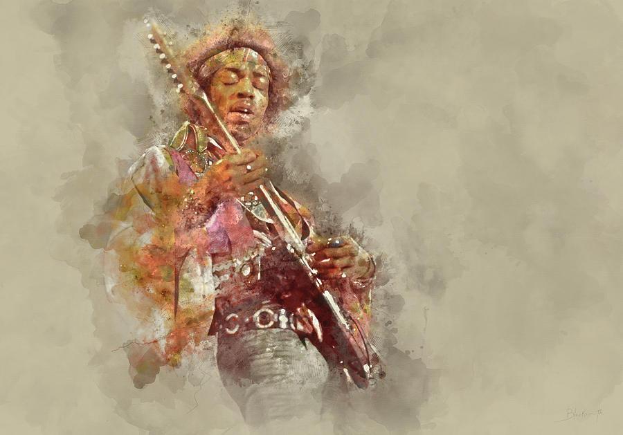 Jimi Hendrix, Guitar Solo Painting