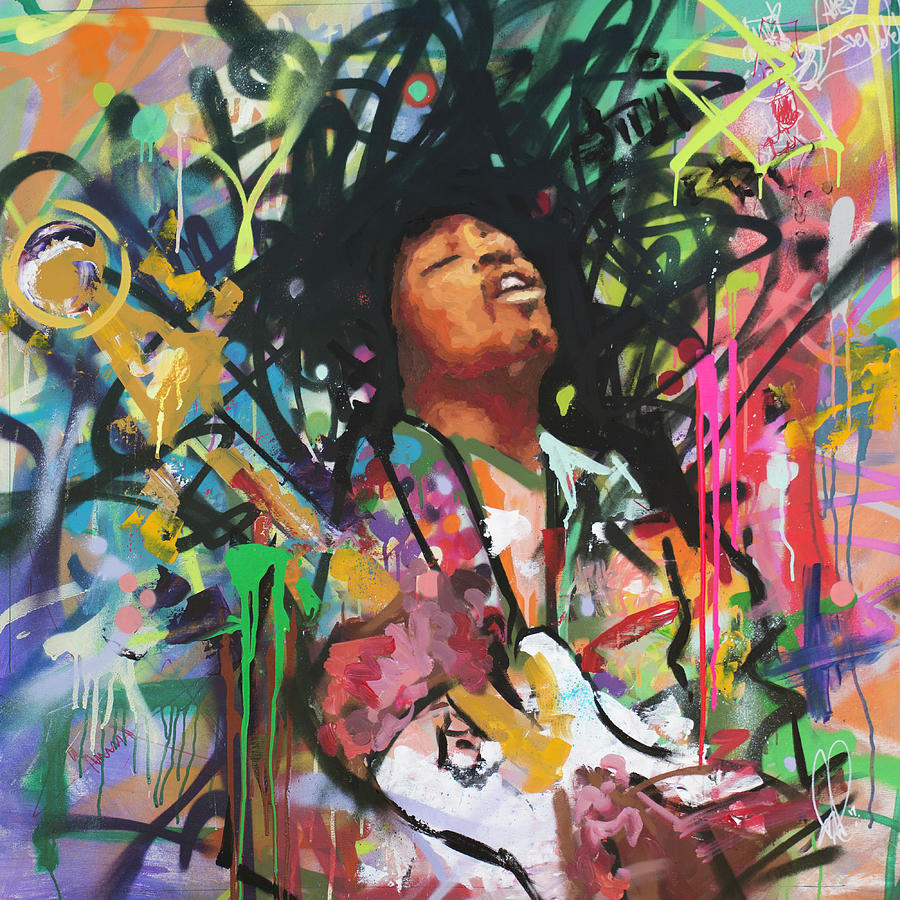 Jimi Painting - Jimi Hendrix III by Richard Day