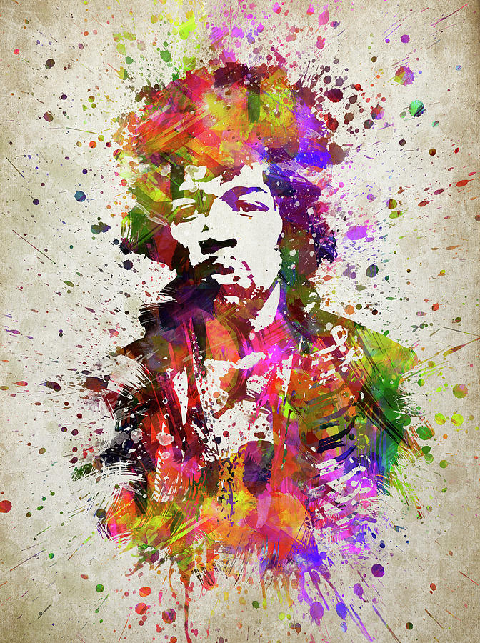 Jimi Hendrix In Color Digital Art