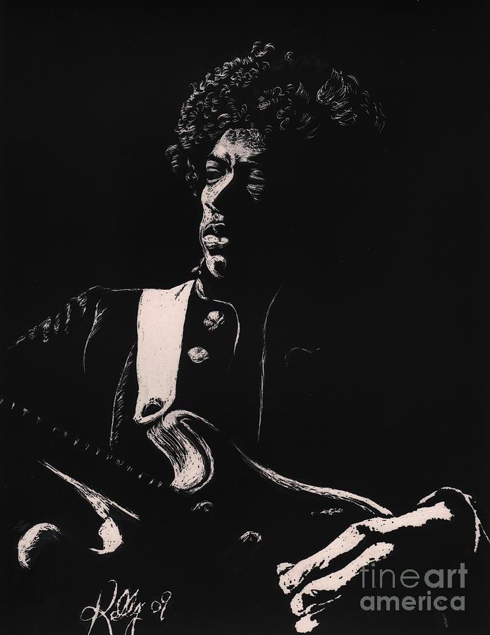 Jimi Hendrix Posters Drawing - Jimi Hendrix by Kathleen Kelly Thompson