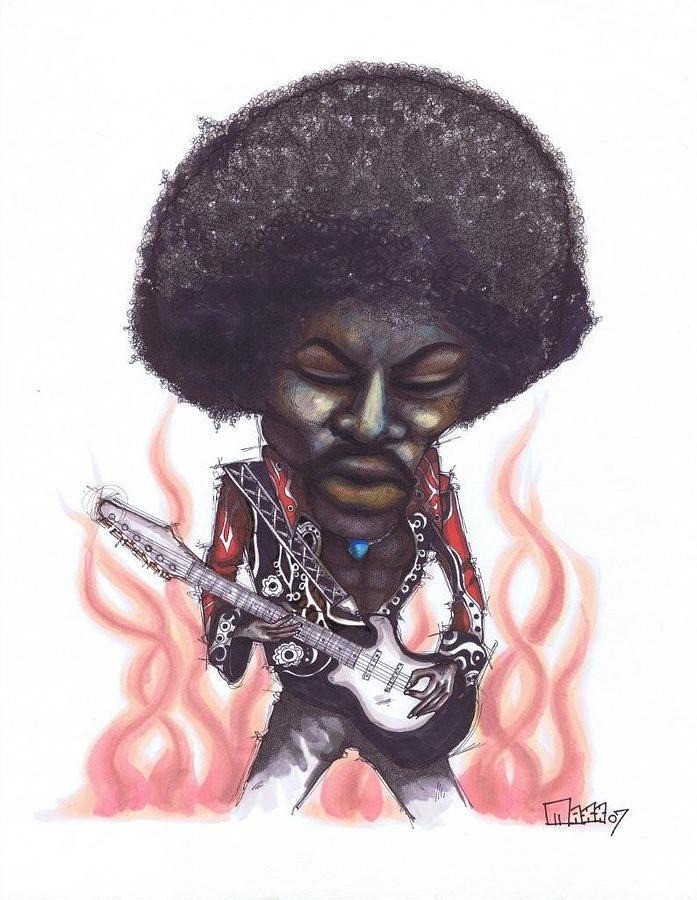 Jimi Hendrix Drawing - Jimi Hendrix by Maxx Kim