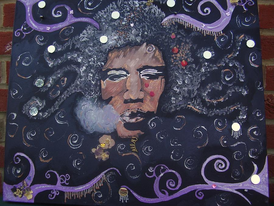 Portrait Painting - Jimi Hendrix by Naomi Bowman