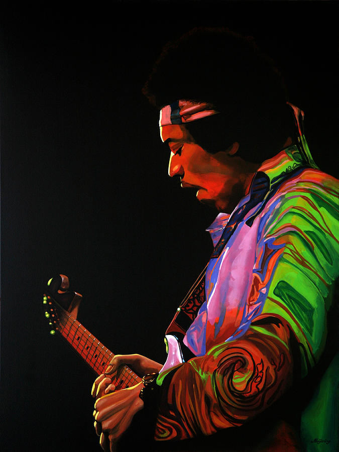 Jimi Hendrix Painting - Jimi Hendrix 4 by Paul Meijering