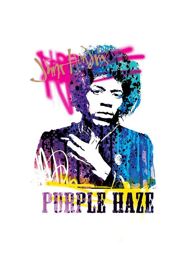 Jimi Mixed Media - JIMI- purple haze by Art Popop