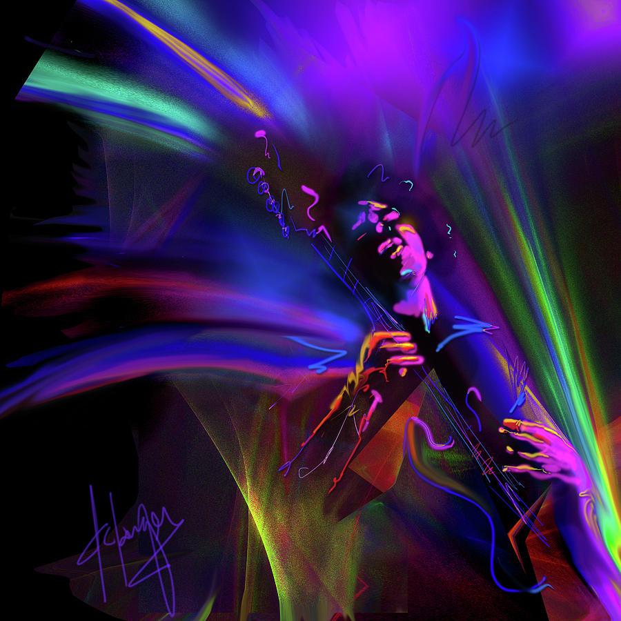 Jimi Hendrix, Purple Haze Painting