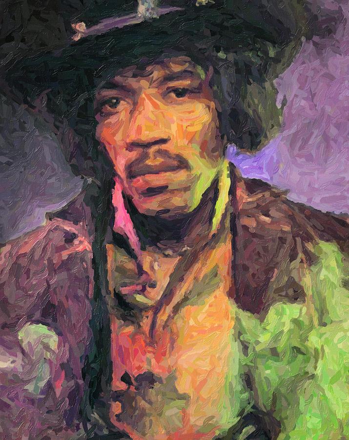 Jimi Hendrix Painting - Jimi Hendrix by Zapista OU
