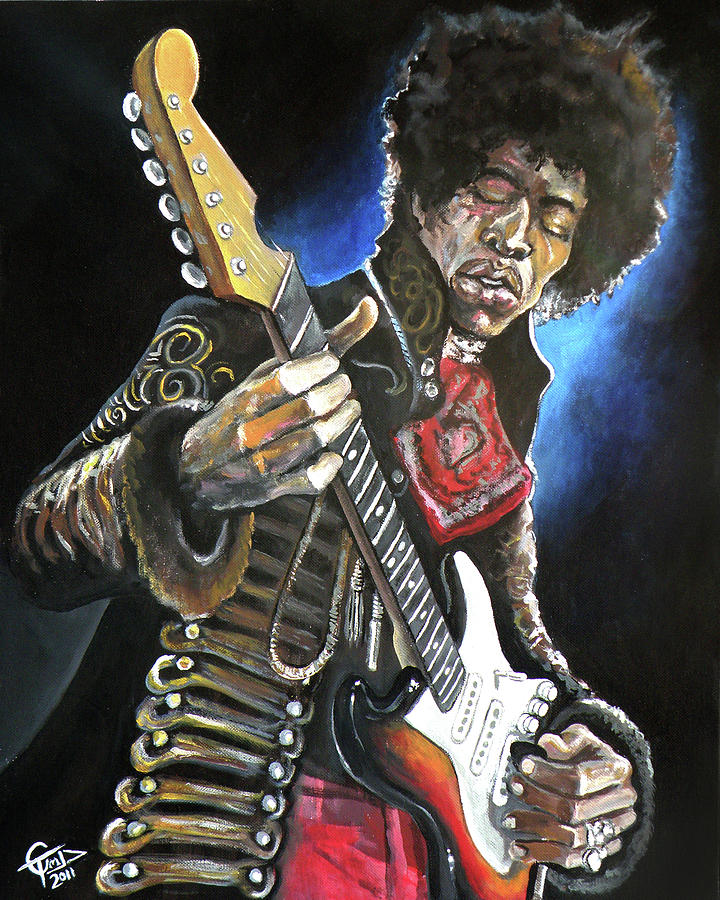 Jimi Hendrix Painting - Jimi Hendrix by Tom Carlton