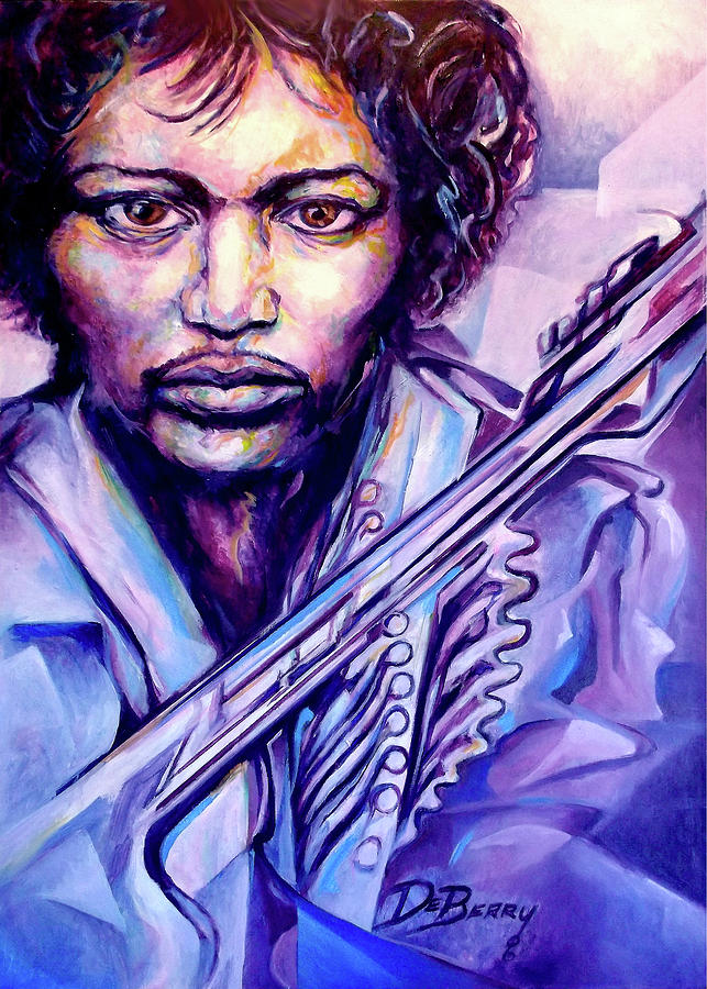 Jimi Painting by Lloyd DeBerry