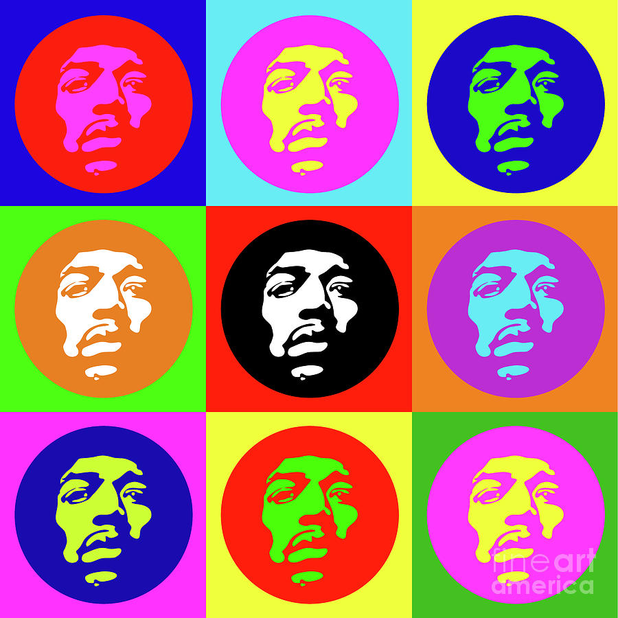 Jimi No.10 Digital Art