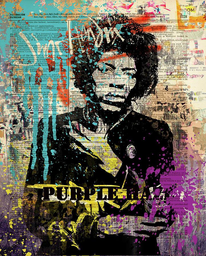 Jimi Painting - JIMI Hendrix #PURPLE HAZE ON DICTIONARY by Art Popop