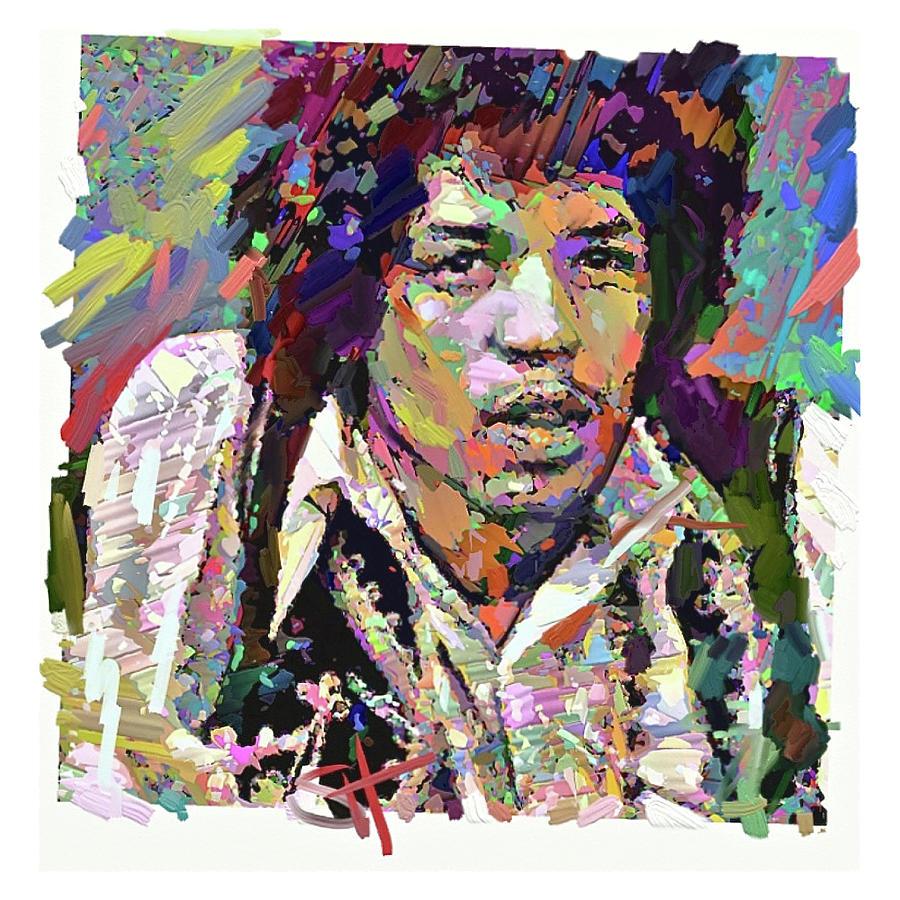 Jimi Digital Art by Scott Waters
