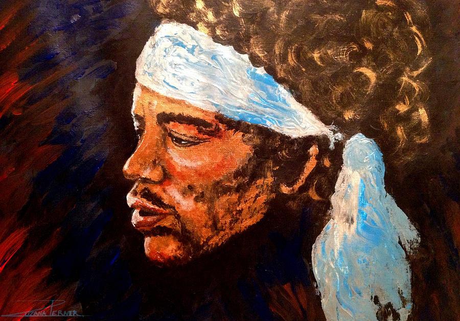 Jimi Painting by Zuzana Perner