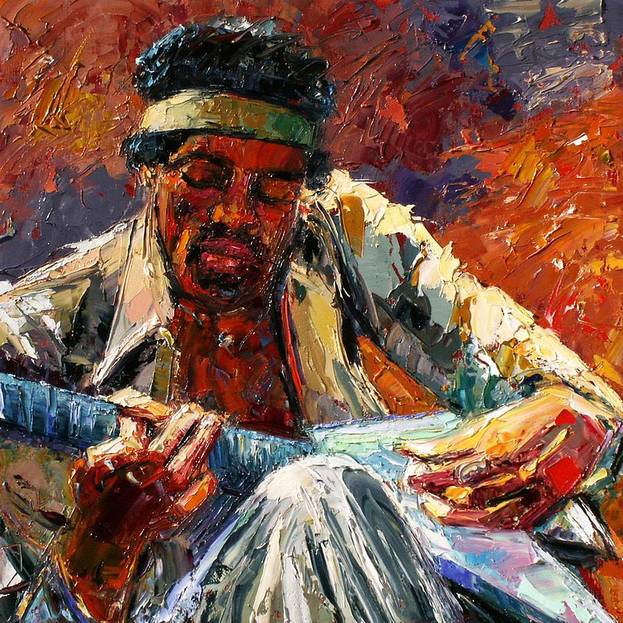 Jimi Hendrix Painting - Jimis Music by Debra Hurd