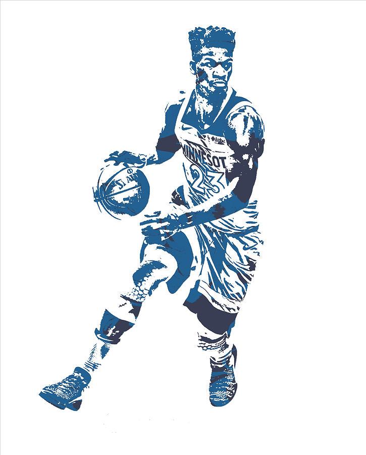 530875250 Jimmy Butler Minnesota Timberwolves Pixel Art 21 Mixed Media by ...