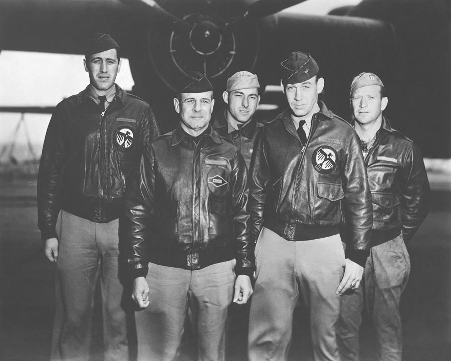 Doolittle Raid Photograph - Jimmy Doolittle And His Crew by War Is Hell Store
