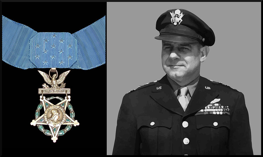 Jimmy Doolittle Painting - Jimmy Doolittle And The Medal Of Honor by War Is Hell Store