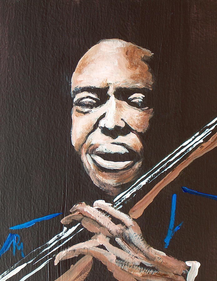 Jazz Painting - Jimmy Garrison by Pete Maier