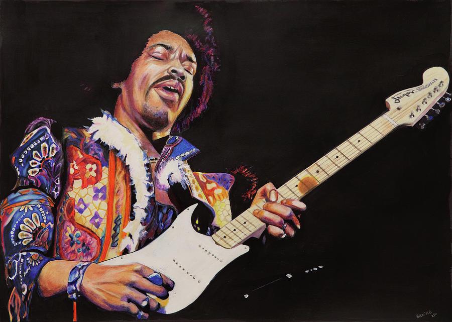 Jimmy Hendrix Painting - Jimmy Hendrix by Chris Benice