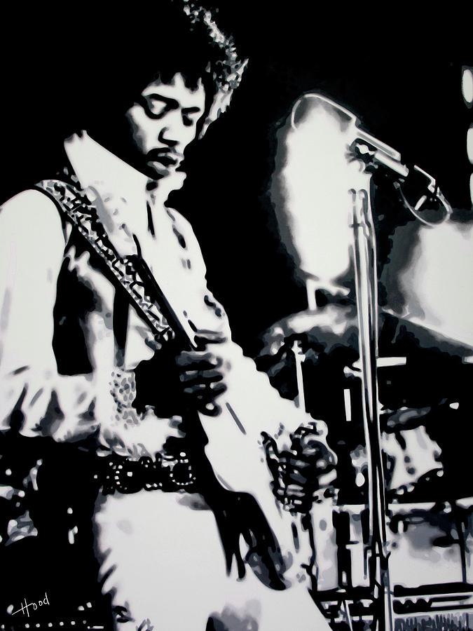 American Musician Painting - Jimmy Hendrix Purple Haze by Hood alias Ludzska
